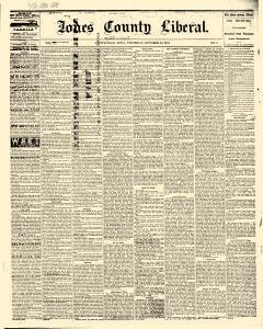 Jones County Liberal, October 23, 1873, Page 1