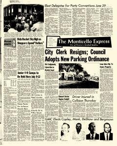 Monticello Express, June 14, 1962, Page 1