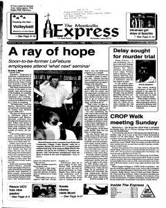 Monticello Express, August 21, 1996, Page 1