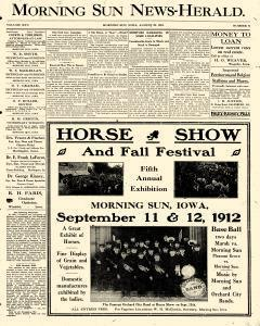 Morning Sun News Herald, August 29, 1912, Page 1