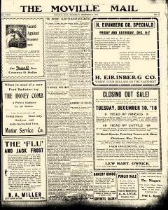 Moville Mail, December 05, 1918, Page 1