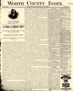 Worth County Index, June 18, 1903, Page 1
