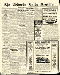 Oelwein Daily Register, August 24, 1915, Page 1