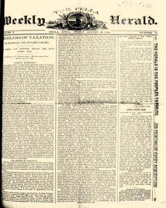 Pella Weekly Herald, August 23, 1892, Page 1