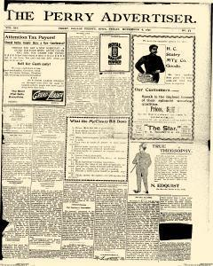 Perry Advertiser, November 04, 1898, Page 1