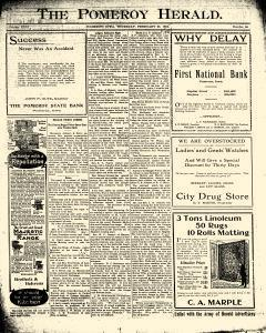 Pomeroy Herald, February 23, 1911, Page 1