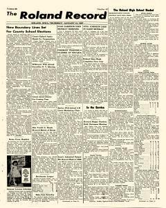 Roland Record, January 10, 1957, Page 1