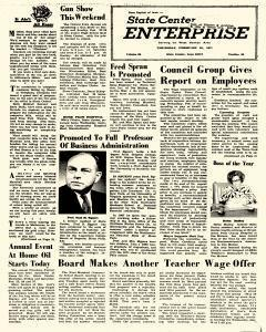 State Center Enterprise, February 25, 1971, Page 1