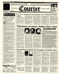 Waterloo Courier, October 11, 1991, Page 1