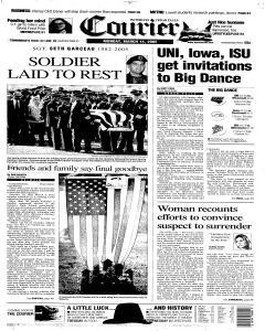 Waterloo Courier, March 14, 2005, Page 1