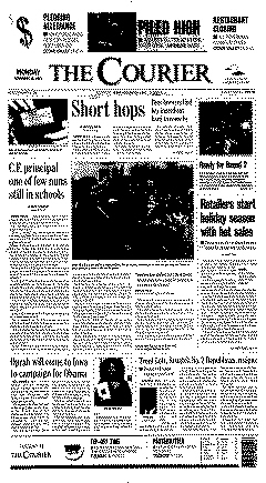 Waterloo Courier, November 26, 2007, Page 1