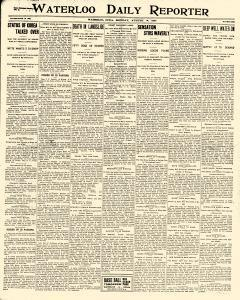 Waterloo Daily Reporter, August 14, 1905, Page 1
