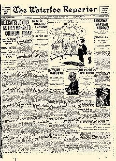 Waterloo Reporter, August 05, 1912, Page 1