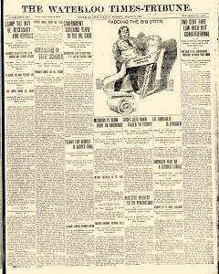 Waterloo Times Tribune, March 09, 1909, Page 1