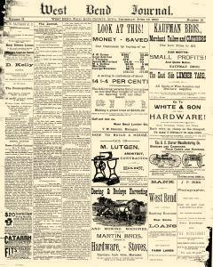 West Bend Journal, June 19, 1890, Page 1