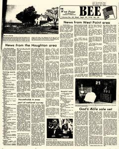 West Point Bee, September 29, 1976, Page 1
