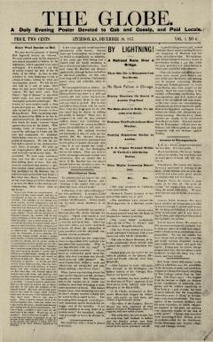 Atchison Globe, December 26, 1877, Page 1