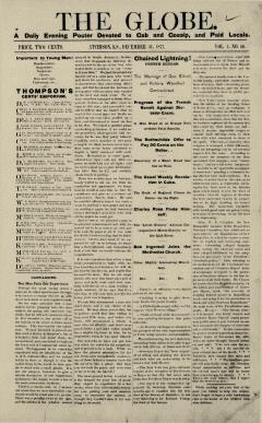 Atchison Globe, December 31, 1877, Page 1