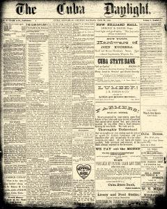 Cuba Daylight, October 26, 1888, Page 1