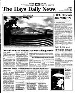 Hays Daily News, June 17, 1999, Page 1