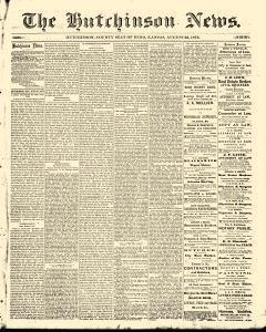 Hutchinson News, August 22, 1872, Page 1