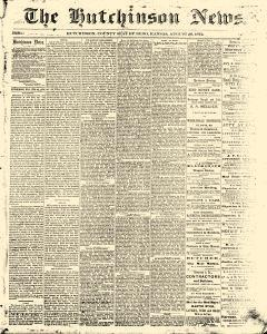 Hutchinson News, August 29, 1872, Page 1