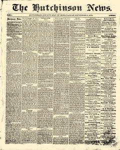 Hutchinson News, September 05, 1872, Page 1