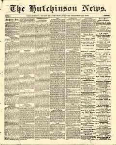 Hutchinson News, September 19, 1872, Page 1
