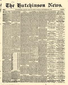 Hutchinson News, September 26, 1872, Page 1
