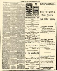 Hutchinson News, March 15, 1890, Page 1