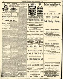 Hutchinson News, March 18, 1890, Page 1
