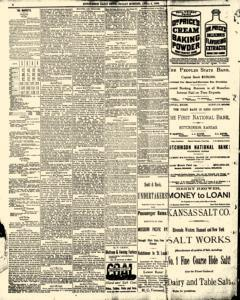 Hutchinson News, April 04, 1890, Page 4