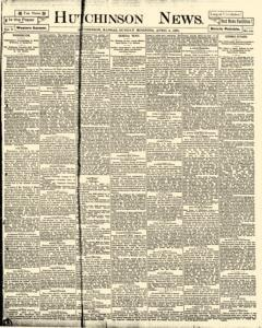 Hutchinson News, April 06, 1890, Page 1