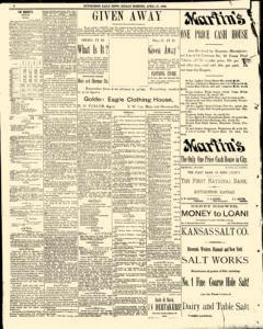 Hutchinson News, April 27, 1890, Page 4
