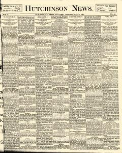 Hutchinson News, May 31, 1890, Page 1
