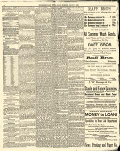 Hutchinson News, August 01, 1890, Page 4