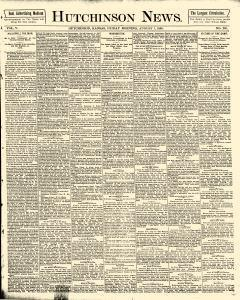 Hutchinson News, August 01, 1890, Page 1