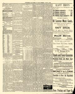 Hutchinson News, August 02, 1890, Page 4