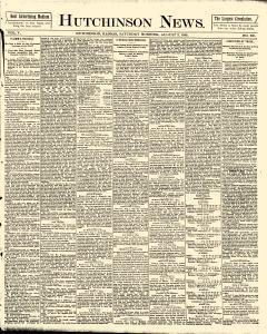 Hutchinson News, August 02, 1890, Page 1