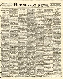 Hutchinson News, August 07, 1890, Page 1