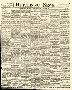 Hutchinson News, August 08, 1890, Page 1