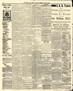 Hutchinson News, August 09, 1890, Page 6
