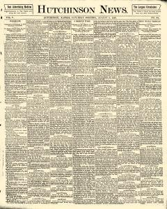 Hutchinson News, August 09, 1890, Page 1