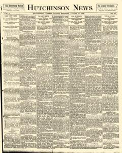 Hutchinson News, August 10, 1890, Page 1