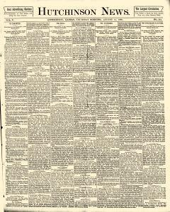 Hutchinson News, August 14, 1890, Page 1