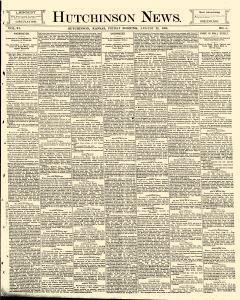 Hutchinson News, August 22, 1890, Page 1
