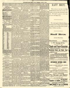 Hutchinson News, August 29, 1890, Page 4