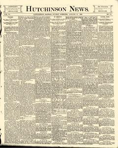 Hutchinson News, August 31, 1890, Page 1
