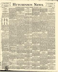 Hutchinson News, September 11, 1890, Page 1