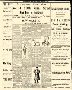 Hutchinson News, September 14, 1890, Page 1